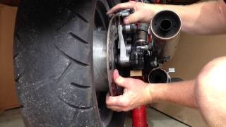 Changing The Rear Tire On A Honda Shadow VT1100