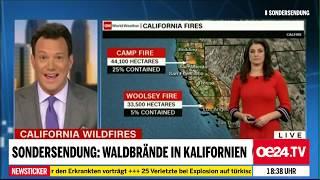 Ausgebrannte Fahrzeuge – unversehrte Bäume – Waldbrand USA Nov. 2018 Teil 1/3