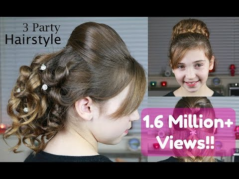 3 Party Hairstyles and Wedding Hairstyles