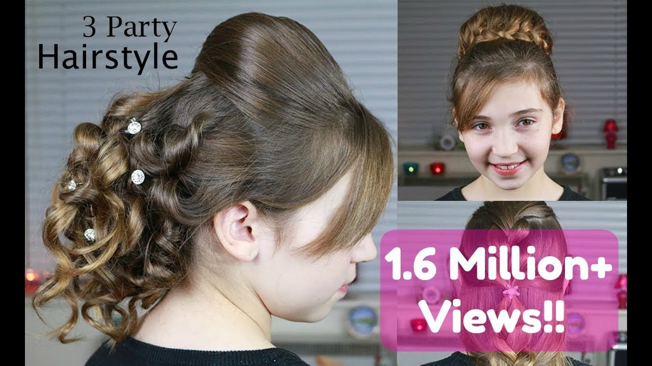3 party hairstyles | indian wedding hairstyles - youtube
