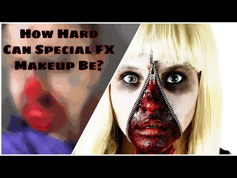 My Attempt at Special FX Makeup 🎃💀 thumbnail