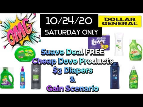 Dollar General Couponing Deals 10/24/20 Saturday Only!! Free Suave Products| Gain Scenario & More