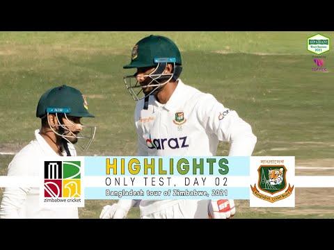 Zimbabwe vs Bangladesh Highlights || Only Test || Day 2 || Bangladesh tour of Zimbabwe 2021