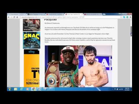 Manny Pacquiao Picks Jessie Vargas for Nov 5 PPV Fight. PACQUIAO VS VARGAS OFFICIAL