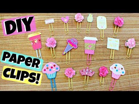 DIY Cute Paper Clips! Cupcakes, Flowers, Tiaras, etc ♥