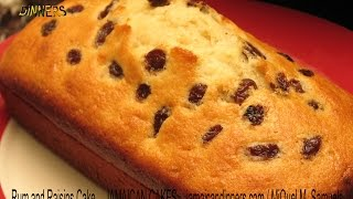 RUM AND RAISINS CAKE recipe