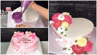Làm bánh kem TRÁI TIM đơn giản | make heart cake | Dieulinhcake