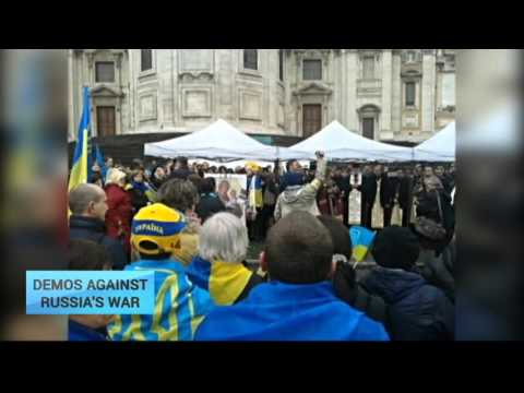 Demo's Against Russia War: Europe-wide protests against Russian agression in Ukraine
