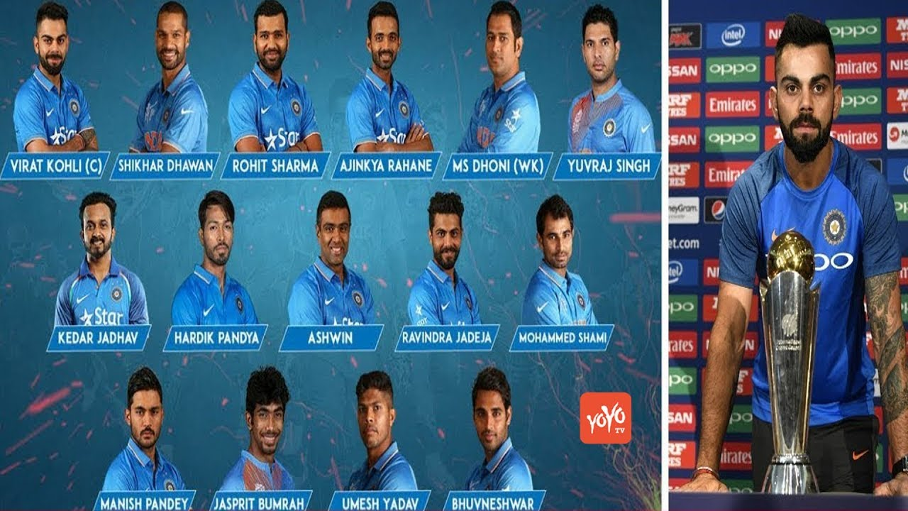 World Cup 2019 Indian Team Players List Is Announced Latest 2019 World Cup Yoyo Tv Hindi