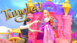 Some Thieves Try to Steal Rapunzel's Hair Kid Friendly Mini Castle Playset & MagiClip Doll and Toys