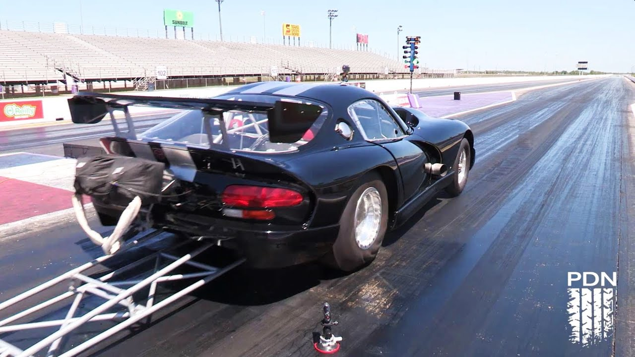 Twin Turbo Outlaw Viper Race Car - testing - YouTube