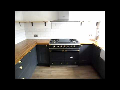 Cascata Kitchen Installation with Oak worktops