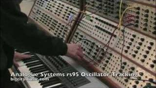 analogue systems rs95 oscillator tracking demo