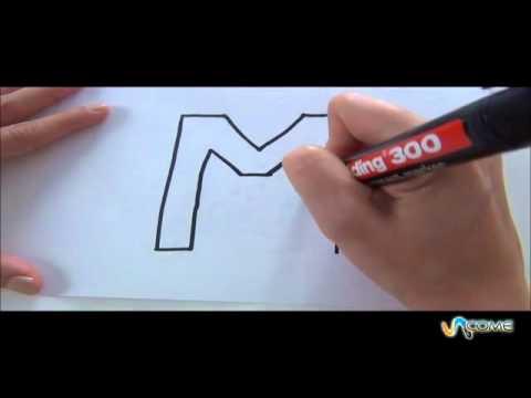 Come disegnare la lettera M in 3D