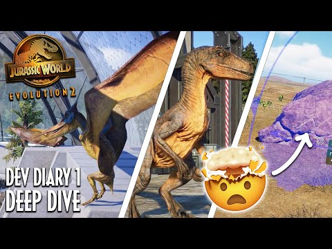 6 NEW DINOSAURS, MOSA TANK & PACK HUNTING! Jurassic World Evolution 2 Dev Diary   JWE 2  gameplay  
