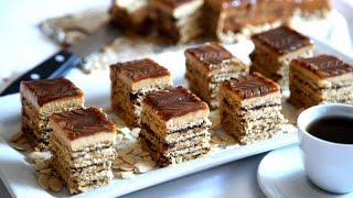No Bake Dark Chocolate Caramel Cake Recipe