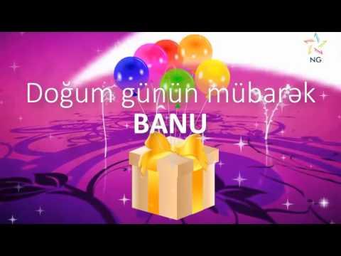 Doğum günü su - BANU