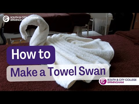 How To Make A Towel Swan