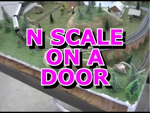 N SCALE LAYOUT ON A DOOR