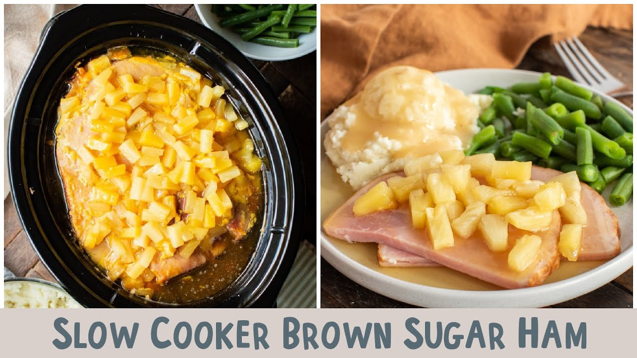 Slow Cooker Brown Sugar Ham The Magical Slow Cooker