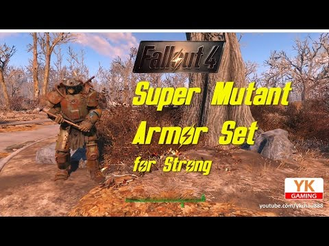 異塵餘生4 Fallout 4 - Location Guide of Super Mutant Armor Set for Strong 壯壯的 超級變種人裝甲 位置