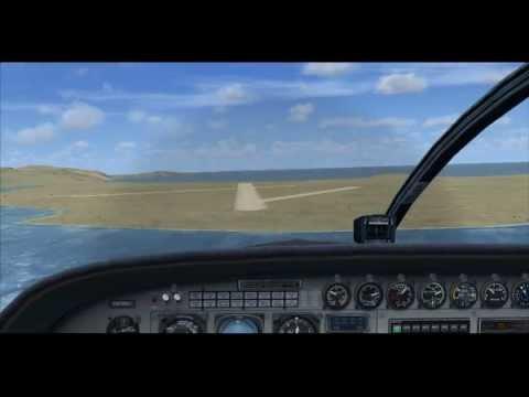 【FSXスリリングな空港シリーズ】バラ空港に着陸 Barra Airport Landing