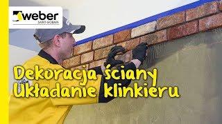 Dekoracja na ścianę. Jak ułożyć płytki z cegły lub klinkieru? Część 1/2: Układanie płytek