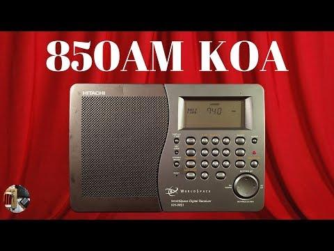Hitachi KH-WS1 WorldSpace Radio   850AM KOA