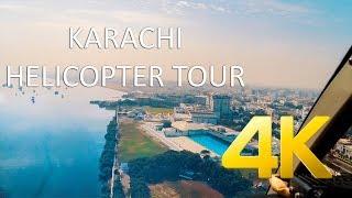 Karachi Helicopter Tour - 4K Ultra HD - Karachi Street View
