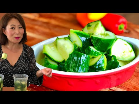Korean Cucumber Side Dish/BanChan/Pickle/Salad (오이반찬 Oi Muchim 오이무침) EASY VEGAN Recipe🥒🌱+ Mukbang