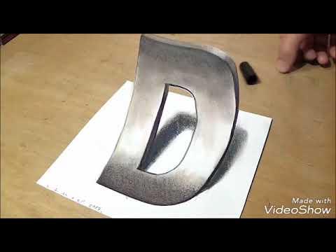 Cara Membuat Grafiti 3d Huruf D Youtube
