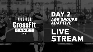 Wednesday: Part 2 of Day 2, Age Group and Adaptive Events— 2021 NOBULL CrossFit Games