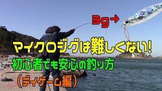 マイクロジグで初めの一匹を釣る方法(ライトゲーム) thumbnail