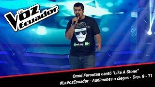 """Omid Forootan cantó """"Like A Stone"""" - La Voz Ecuador - Audiciones a ciegas - Cap. 9 - T1"""
