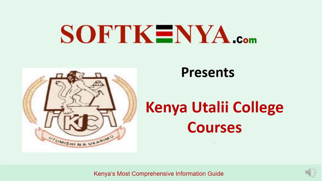 Kenya Utalii College Courses, Fee Structure Intake and Contacts