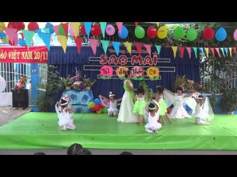 Bài múa cò lả của trường mầm non Sao Mai