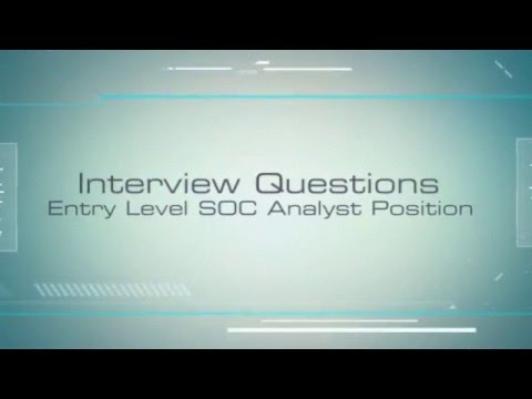 Interview Questions - SOC Analyst Position