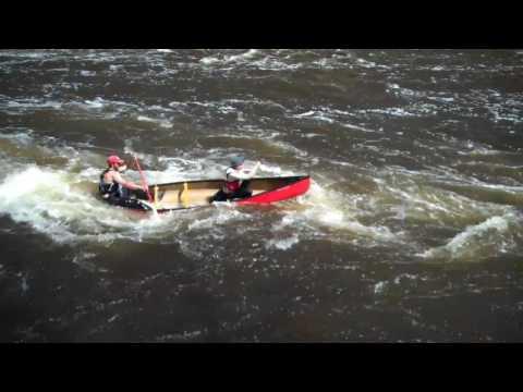 2017 Kenduskeag Stream Canoe Race Highlights at Shopping Cart Falls