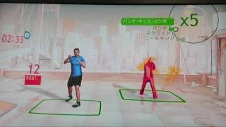 Xbox360 Kinect専用ソフト「ユアシェイプ フィットネス・エボルブ」の様子