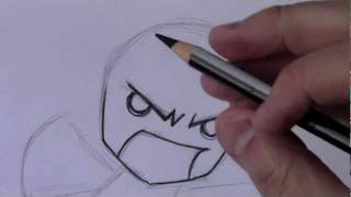 How to Draw an Angry Chibi [HTD Video #7](OFFICIAL CRILLEY PLAYLIST: _http://tinyurl.com/d3rx7fg All 3