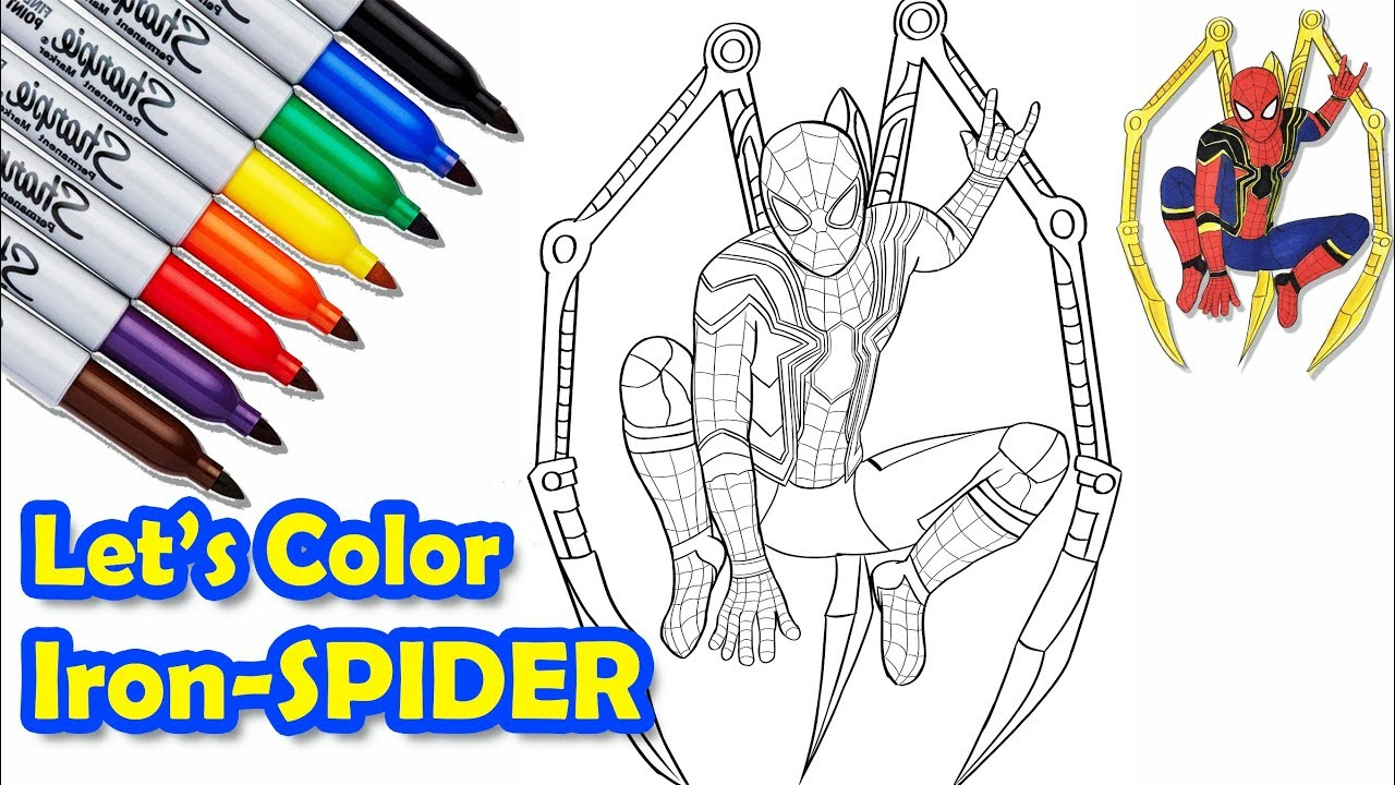 Iron-SPIDER in The Avengers Infinity War Coloring Pages ...