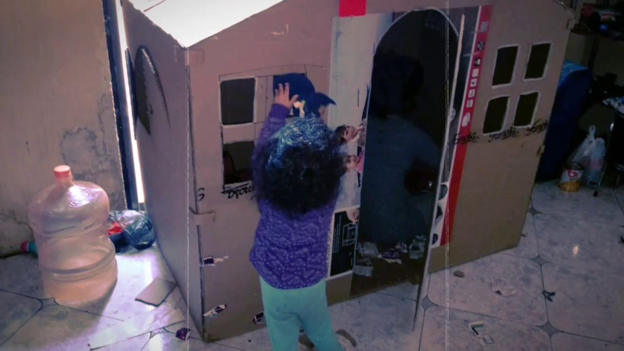 como hacer una casita de cartn para nios