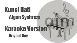 Kunci Hati Afgan Syahreza Karaoke Version Original Key