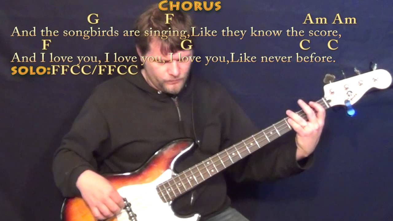 Songbird Fleetwood Mac Bass Guitar Cover Lesson In C With Chords