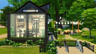 MICRO HOUSE TINY LIVING 🏡 SIMS 4 SPEED BUILD STOP MOTION (NO CC)