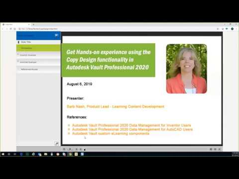 ASCENT Webcast: Hands-on Copy Design functionality in Vault 2020