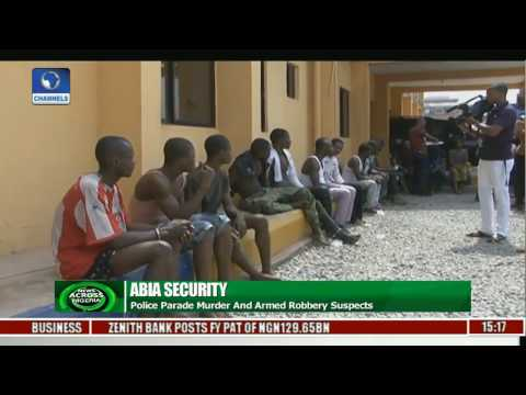 Abia Police Parade Murder, Armed Robbery Suspects