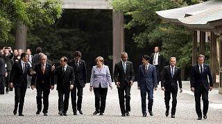 G7 leaders visit Japanese holy shrine ahead of summit