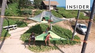 Tentsile Tents are basically giant hammocks