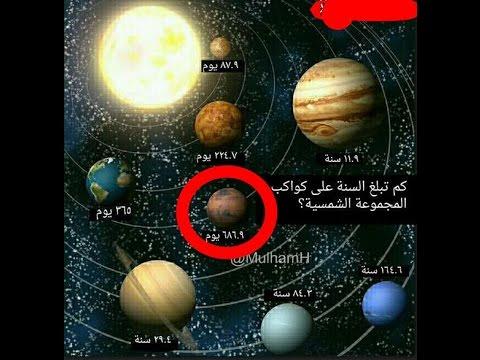 كواكب المجموعه الشمسية مذكورة في القرءان منذ 1400 سنة سارع بالمشاهدة Youtube
